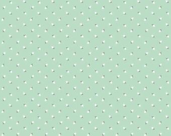"Riley Blake Designs ""Sew Charming"" by Bo Bunny. 100% cotton - C4546 Mint - Rosebuds"