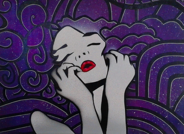 Graffiti Woman Stencil Spray Paint Art  Graffiti Woman ...
