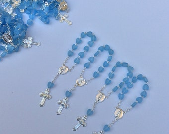 "24 Mini rosaries approximately 4"" long- boys Baptism favors - first communion- mini rosaries- baptism favors- communion favor"