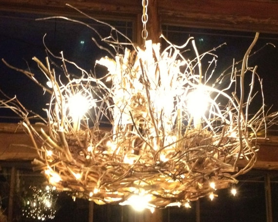 String Lights With Chandelier : The Wisteria - 3 + 1 Candle - Vine Light - Chandelier - Down Light - 120 Mini LED String Lights ...