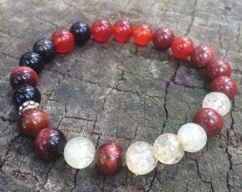 Chakra bracelet , Sacral Chakra Crystal Healing Bracelet, australian handmade stone bracelet