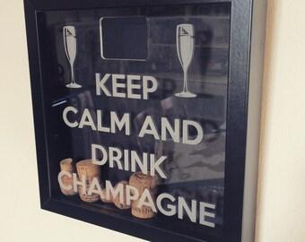 Champagne cork memory box