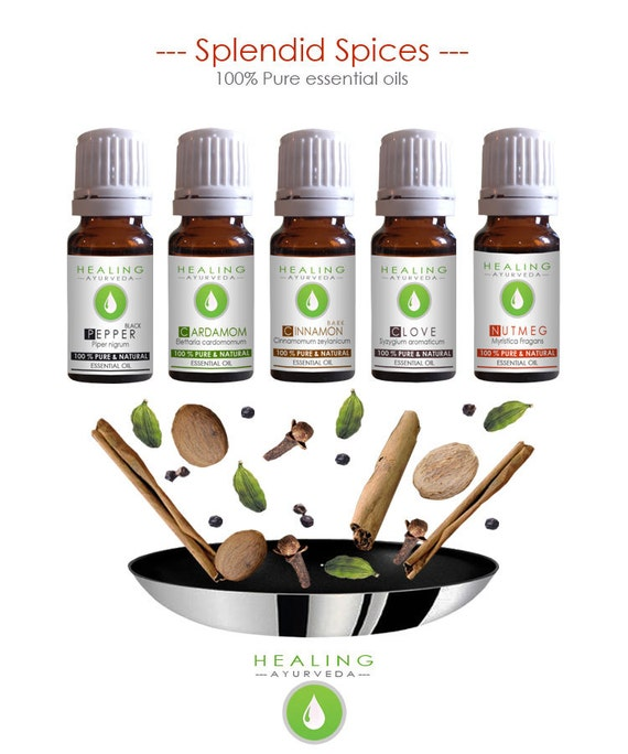 Spice Essential oils- Spice oil kit- Potpourri oils- Pure essential oils set-Aromatherapy oils- Natural oils- culinary- Healing ayurveda oil