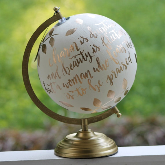 Beautiful hand painted globes