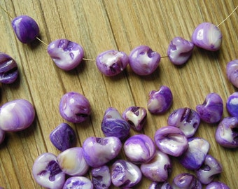 10-20mm Lavender Mother of pearl Shell Beads