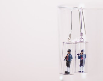 Brass Band-Earrings Silver
