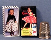 Miss Revlon Doll Box  -  Dollhouse Miniature - 1:12 scale - Dollhouse Accessory - girl toy