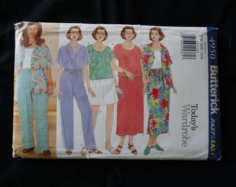 Womens 22W-26W Shirt, Top, Skirt, Shorts and Pants Butterick 4950