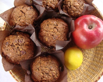 Morning Glory Muffins - Muffins with Apples - Muffins with Nuts - Muffins with Raisins - Breakfast Muffins - The Everything Muffin (6 Jumbo)