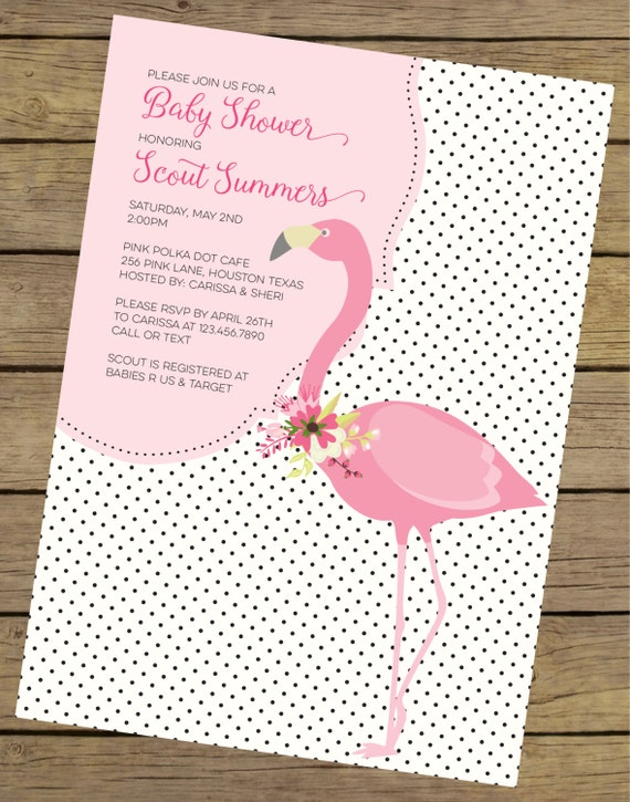 flamingo baby shower invitation pink flamingo baby shower flamingo