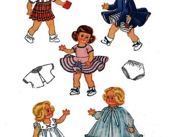 "Ginny, Muffie, Alexanderkin Wardrobe Pattern for 8"" Doll Clothes"