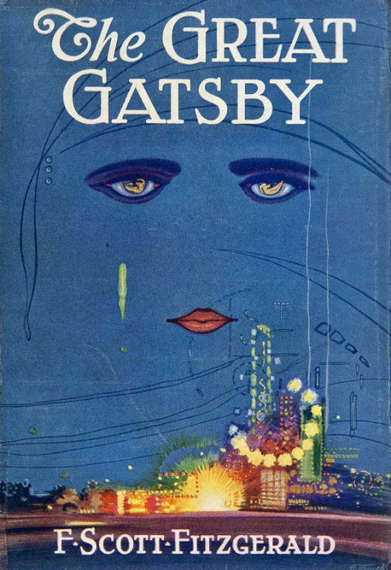Great Book Cover Art : Vintage book cover print the great gatsby f