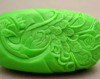 PEACOCK SOAP SILICONE mold bar mould
