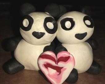 Two Pandas, One Heart