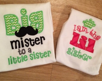 Sibling Shirt Set-Big Mister/LIL Sister