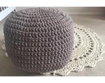 Popular Items For Crochet Pouf On Etsy