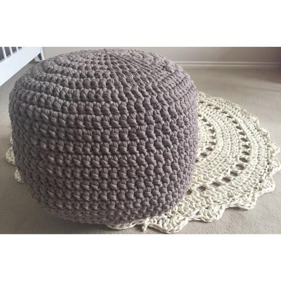 handmade crochet pouf ottoman footstool