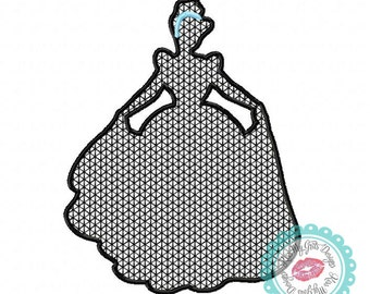Cindy Silhouette Motif Stitch Machine Embroidery Design