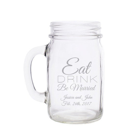 ... Mug Wedding FavorsEat Drink Be MarriedEngravedCustom Engraved