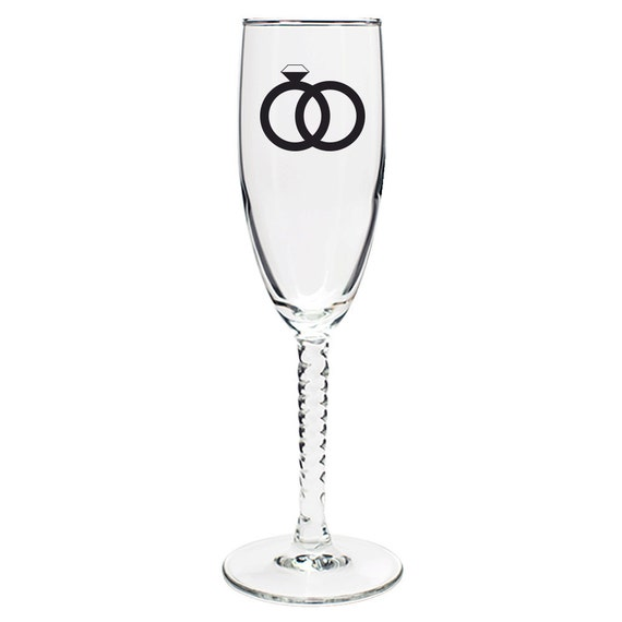Wedding Favor Non Personalized Champagne Flute Twisted