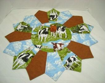 Cow Table Topper Handmade Center piece