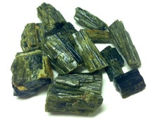 """3 Three EPIDOTE Raw Rough Stone Pieces ~ 1/2"""" to 1"""" Crystal Healing Mineral ~ Jewelry & Crafts"""