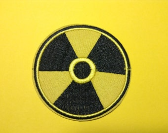 Iron on Sew on Patch:  Nuclear warning