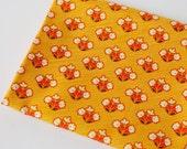 yellow folk floral fabric | Wild & Free, Morning Keepsake | Maureen Cracknell for Art Gallery Limited Edition, mustard red folkart flowers