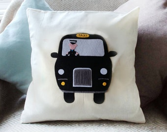 Black cab cushion