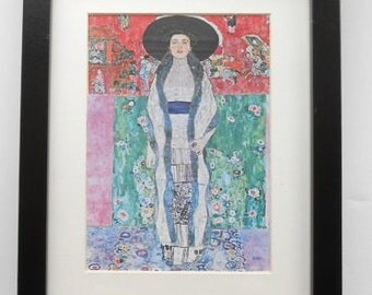 535 - Print with frame, Gustav Klimt, Adele Bloch-Bauer, Wall art, Print, Art print, Pictures,Vintage painting, Home decor, Vintage pictures
