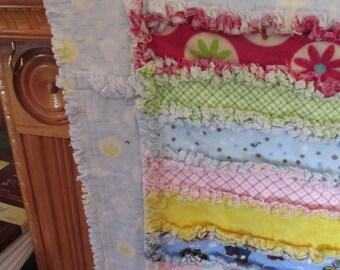 Crib size rag quilt