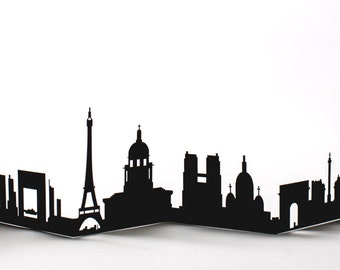 Paris Cityscape, Silhouette, Skyline Card