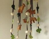BUCKS, TRACKS & RUBS™ Hardwood Baby Mobile, Nursery Decor, Deer Hunting Nursery