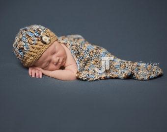 Newborn Hat & Blanket Set, Newborn Photo Prop, Newborn Knit Props, Newborn Knit Hat, Newborn Knit Blanket