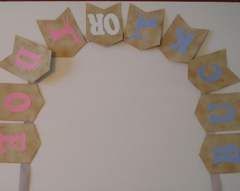 Buck or Doe Gender Reveal Baby Shower Banner