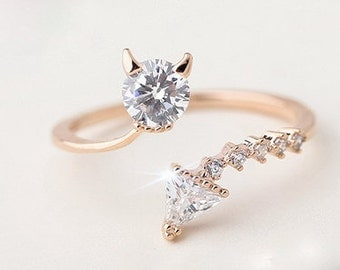 Devil wears Prada Zircon Rose Gold Adjustable Ring
