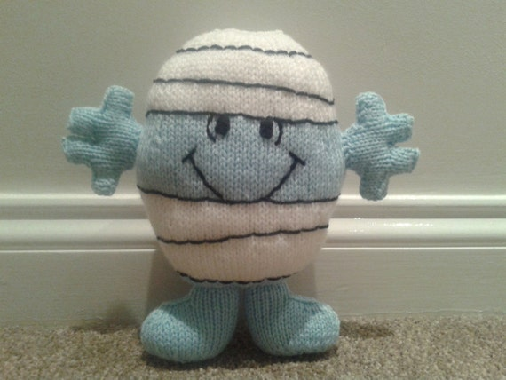 Mr Men Mr Bump Hand Knitted Childrens Soft Toy from
