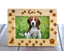 Personalized Pet Picture Frame Gift- Dog Picture Frame 4x6- Custom Gift- Custom Christmas Gifts