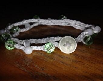 Crochet Wrap Bead Bracelet