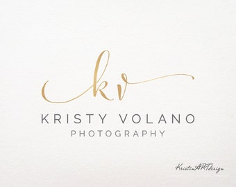 Hand-written initials logo, Premade logo, Logo design, Logo signature, gold logo, elegant logo, fashion logo design, Watermark 162