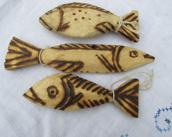 Wooden Fish - Set of 3