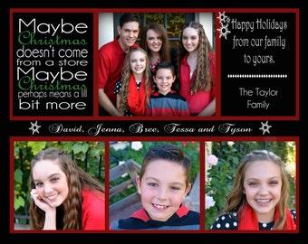 Christmas Card - Photo Holiday 5x7 or 7.5x6 (Costco Card Size) Printable Digital Card