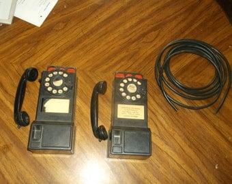 Vintage Toy Irwin Telephone Set
