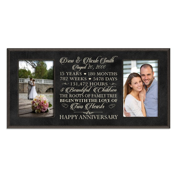 15th Wedding Anniversary Gift For Wife: Personalized 15th Anniversary Gift For By DaySpringMilestones