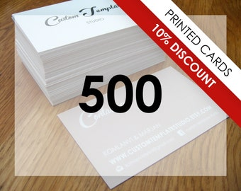 10% DISCOUNT - 500 business cards, printed, 500 calling cards, European size or US size, unique business card, customized business cards