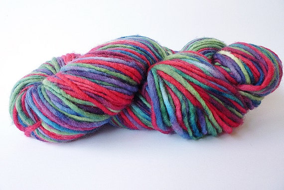 Worsted Weight Yarn : Hand Painted Yarn, Worsted Weight Yarn, Non Superwaah, Single Ply Yarn ...