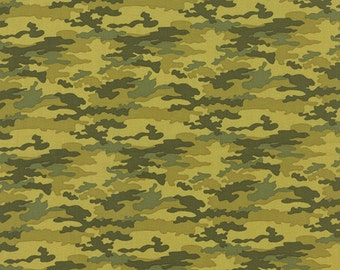 Nomad Fabric from Urban Chiks for Moda Fabrics.  Green Camo in Cactus.