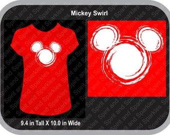 Mickey Swirl T-Shirt, Tank or Hoodie