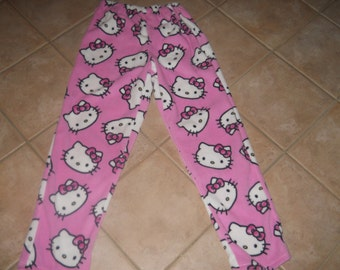 Hello Kitty Fleece PJ Pants Adult Sz Small