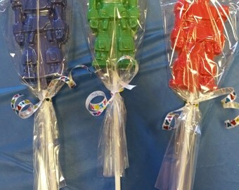 Chocolate Robot Lollipop Favors